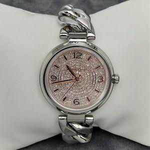 Michael Kors Womens Silver-tone Chain Watch